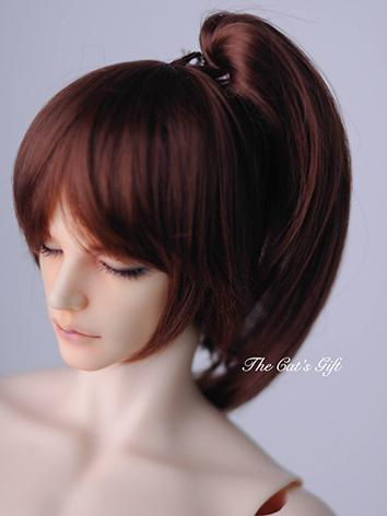 BJD Brown Changeable Hair w...
