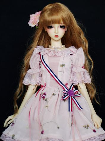 BJD Clothes Girl Pink Dress Suit for SD16 Ball-jointed Doll