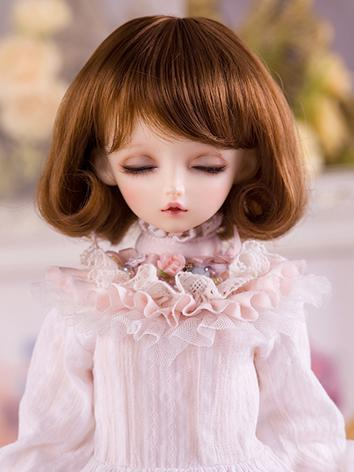 【Limited Edition】BJD 1/4 brown curl hair WG416052 for MSD Size Ball-jointed Doll