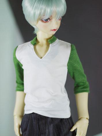 BJD Clothes Gray/Green T-shirt Shirt for SD Ball-jointed Doll