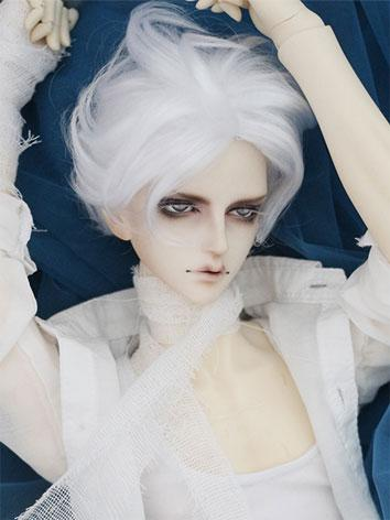 BJD Wig Male White/Gold Short Hair for SD Size Ball-jointed Doll