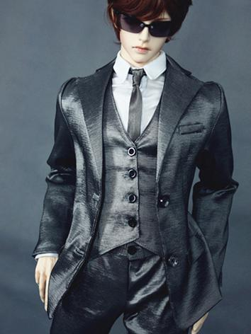 Bjd Clothes Boy Silver Suit...