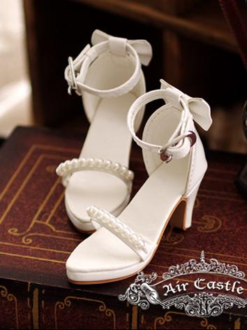 Bjd Girl White HIgh-heel shoes for SD Ball-jointed Doll