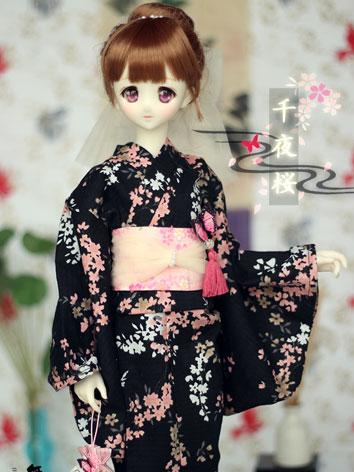 BJD Clothes Girl Kimono Yukata [Qianye]for SD Ball-jointed Doll