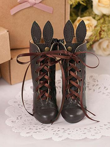 【Limited Edition】Bjd Shoes 1/4 BJD Rabbit Ear Shoes/Brown SH416062 for MSD Size Ball-jointed Doll
