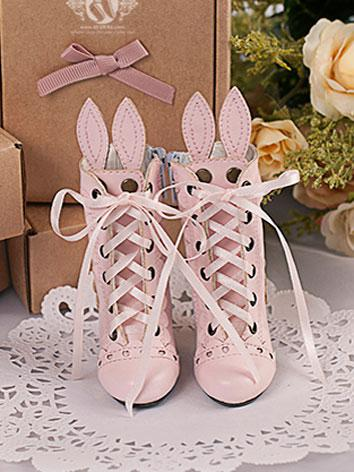 【Limited Edition】Bjd Shoes 1/4 BJD Rabbit Ear Shoes/Sweet SH416061 for MSD Size Ball-jointed Doll