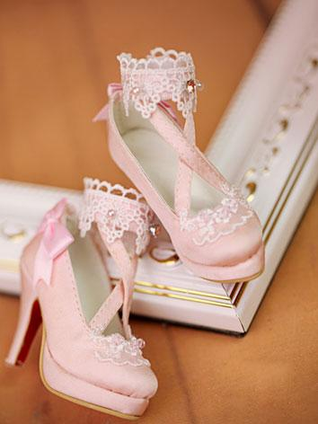 【Limited Edition】Bjd Shoes 1/3 retro sweet high-heel shoes SH314091 for SD Size Ball-jointed Doll