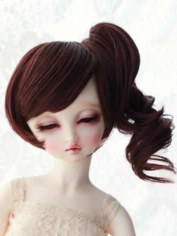 BJD Wig Female Coffee Curly...