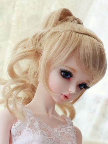 BJD Wig LightGold/Lightbrow...