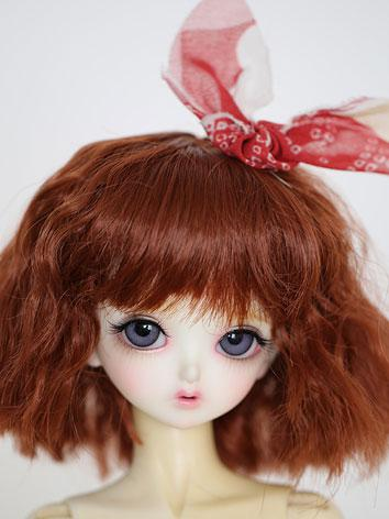 BJD Wig Wine/Pink Hair Wig JW095 for SD/MSD/YSD Ball Jointed Doll