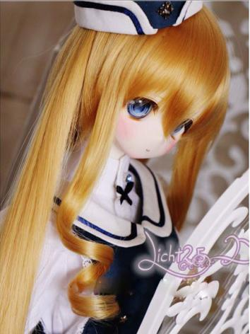 BJD Girl White/Gold Curly W...
