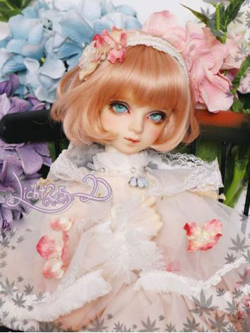 BJD Light Gold/Pink/Purple/Black Short Wig for SD/MSD/YSD Size Ball-jointed Doll