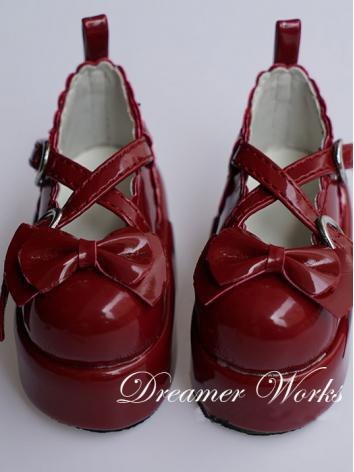 Bjd Red Lolita Shoes for SD...