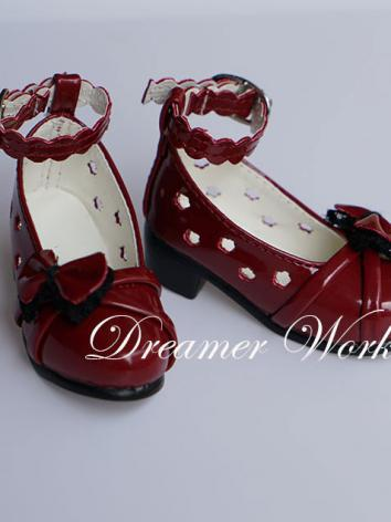 Bjd Red Shoes for SD/MSD Ba...