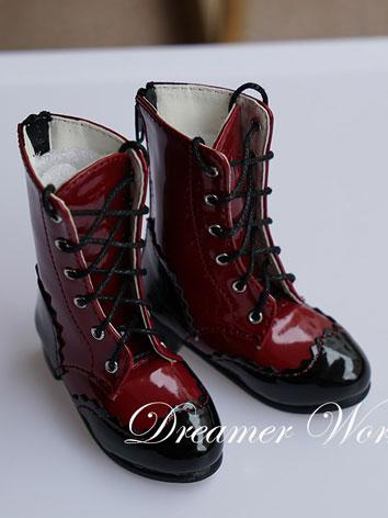Bjd Red Short Boots Shoes f...