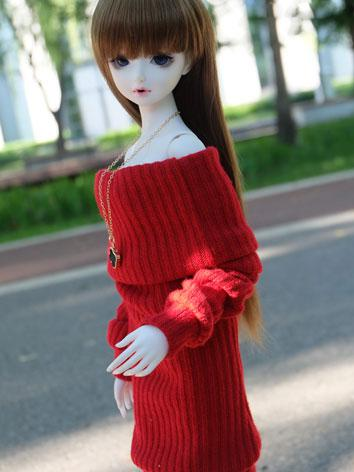 BJD Clothes Boy/Girl Red Sw...