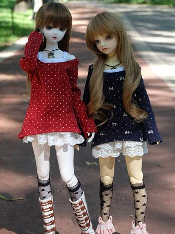 BJD Clothes Girl Red/Blue S...