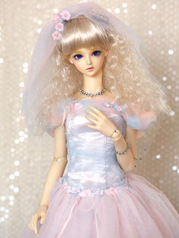 BJD Clothes Pink Weddingdre...