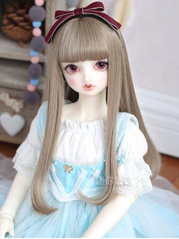 BJD Girl Light Brown/Silver/Flaxen Curly Hair Wig for SD Size Ball-jointed Doll