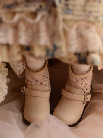 Bjd Shoes 1/3 Girl Short Boots Beige Shoes for SD Size Ball-jointed Doll