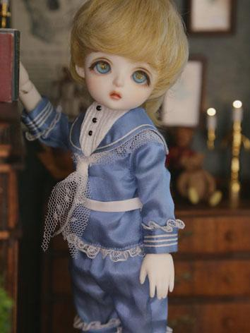 BJD Clothes Boy Jelly Marine Blue Sailer Suit for YSD Size Ball-jointed Doll