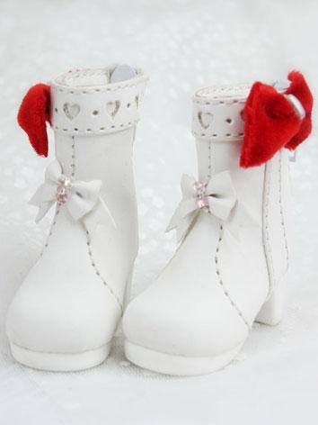 Bjd Girl White Short Boots Shoes for YSD Ball-jointed Doll