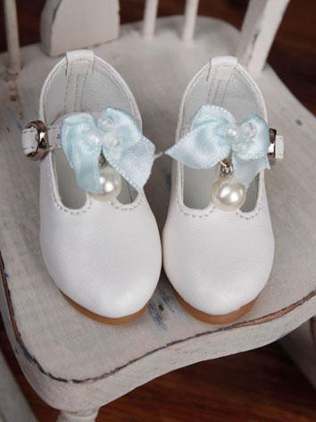 Bjd Girl Sweet White Shoes ...