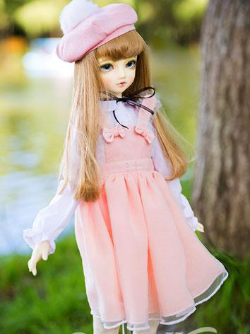 BJD Clothes Female Pink/Blue Sweet Dress Suit for SD Ball-jointed Doll