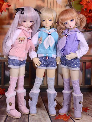 BJD Clothes Female Purple/P...