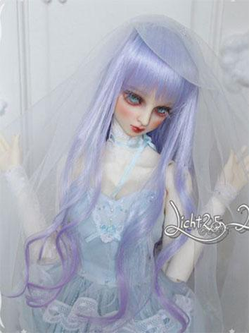 BJD Wig Sweet Girl Purple H...