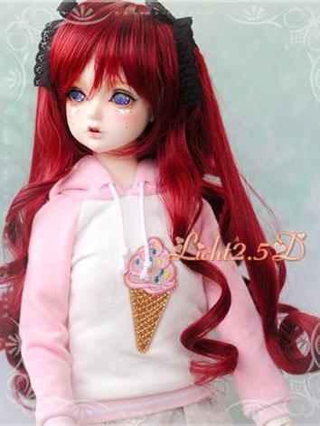 BJD Wig Sweet Girl Red Hair for SD/MSD/YSD Size Ball-jointed Doll