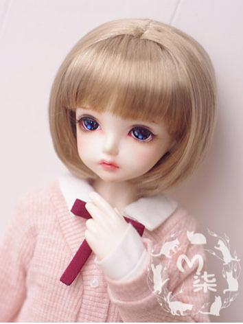 BJD Wig Dark Gold Bobo Hair...