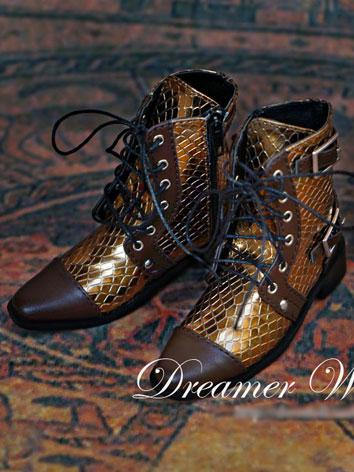 Bjd Shoes Male Gold Short Boots for SD Ball-jointed Doll