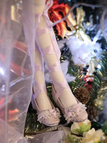 【Limited Edition】Bjd Shoes 1/3 BJD Youth Purple Lace Princess Shoes SH316121 for SD Size Ball-jointed Doll