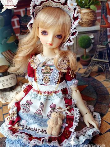 BJD Clothes Girl Spring Dress for MSD Ball-jointed Doll