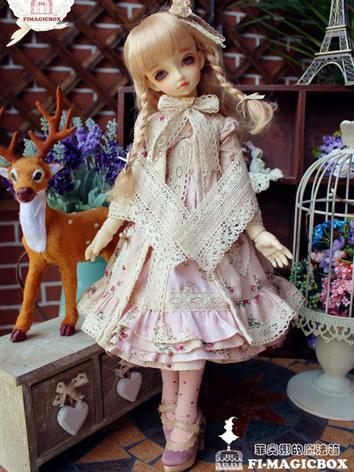 BJD Clothes Girl Pink Print...