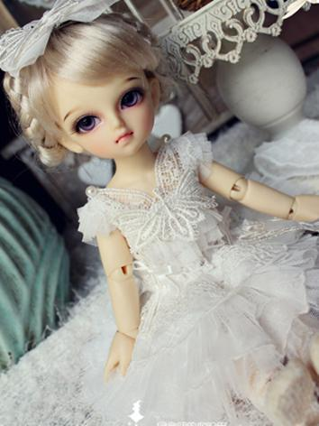 BJD Clothes Girl Dress 【Whi...