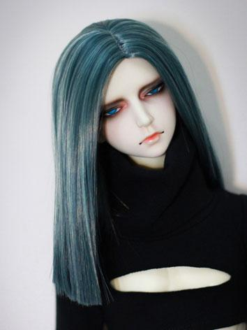 BJD Female/Male Blue Straig...