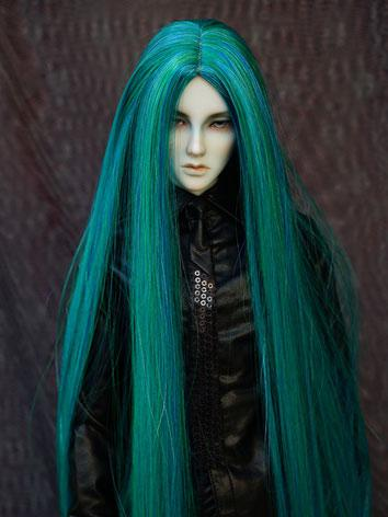 BJD Wig 1/3 Male Green Long...