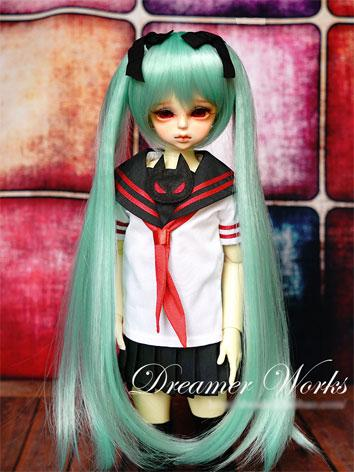 BJD Wig 1/4 Female Green Lo...