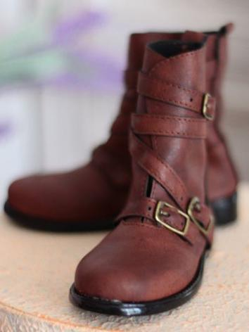 Bjd 1/3 Shoes Male Brown/Black SHort Boots for SD Ball-jointed Doll