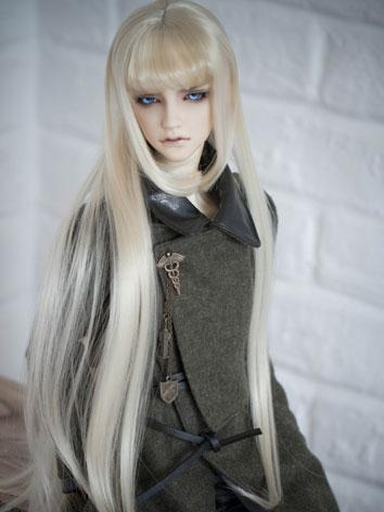 BJD Male/Female Light gold Hair 1/3 Wig for SD Size Ball-jointed Doll