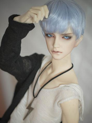 BJD 1/3 1/4 Wig Light Blue ...