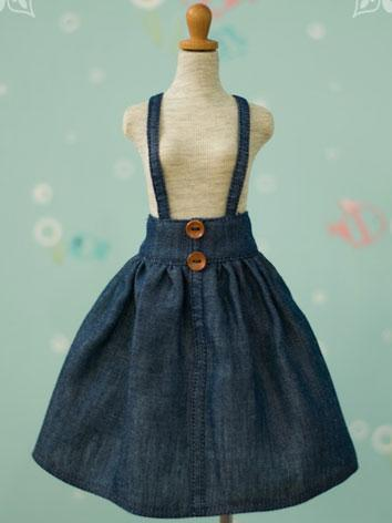 BJD Clothes 1/3 1/4 Jean/Khaki Skirt for MSD/SD Size Ball-jointed Doll