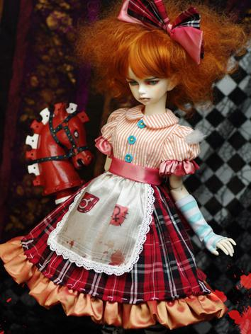 【Limited Item】BJD Clothes1/3 1/4 Girl American McGee's Alice(Misstitched) Dress Suit for SD/MSD Ball-jointed Doll
