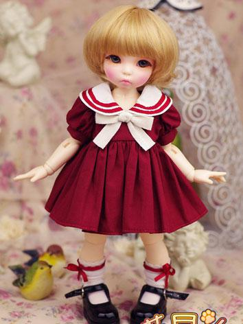 【Limited Item】BJD Clothes 1/6 Girl Baby Sailor Dress for YSD Ball-jointed Doll
