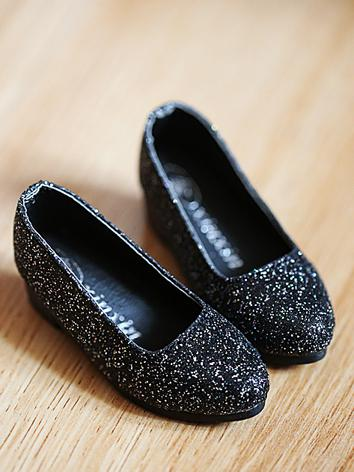 Bjd 1/3 Girl Red/Silver/Black Flat shoes for SD Ball-jointed Doll