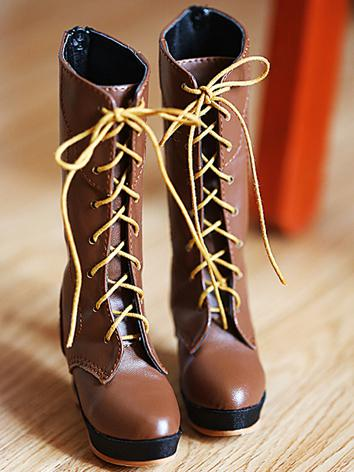 Bjd 1/3 Girl Brown/Black High Boots shoes for SD Ball-jointed Doll
