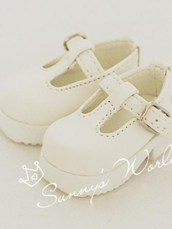 1/6 Shoes Girl/Boy White/Bl...