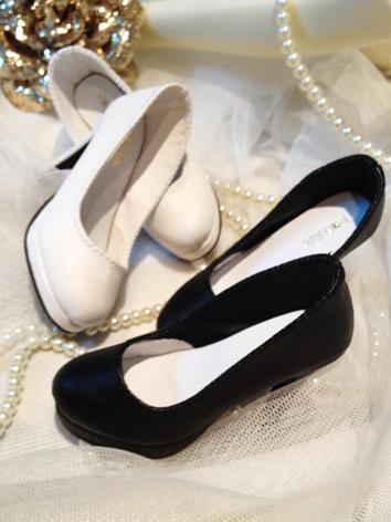 High Heels Girl/Female White/Black Lady Shoes for SD16 Ball-jointed Doll